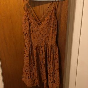 Lush copper lace dress